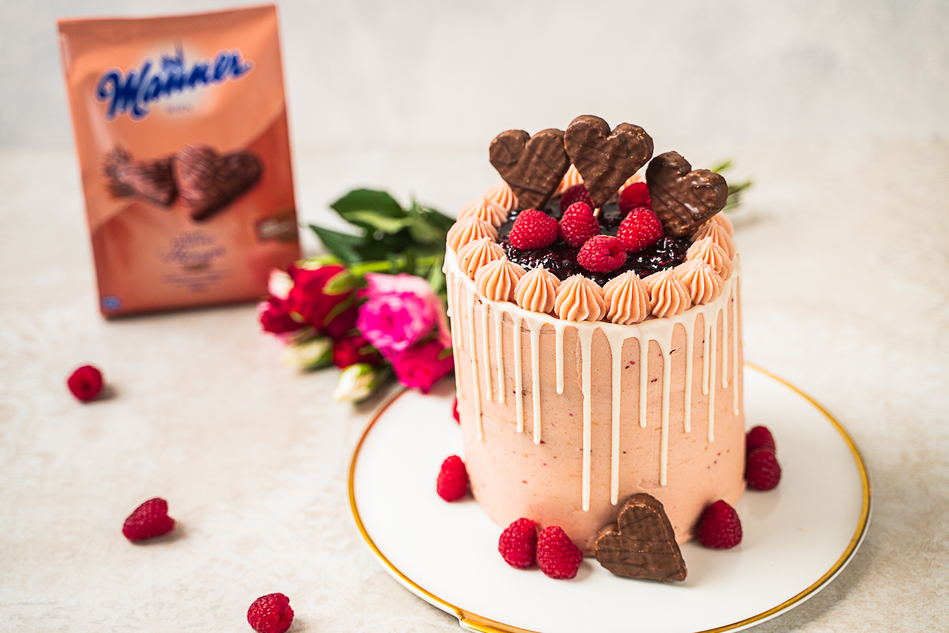 Manner Valentinstags Torte