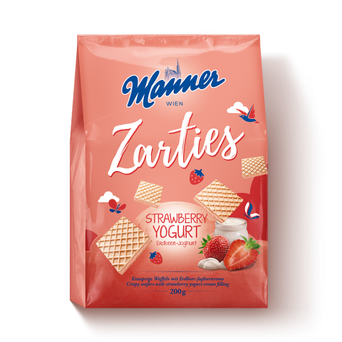 Manner Zarties Strawberry Yogurt 200g Beutel