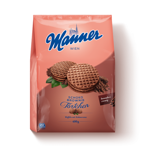 Manner Schoko-Brownie Törtchen 400g